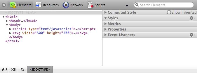 Safari's web inspector